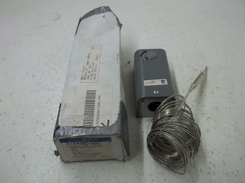 24 to 277 VAC Johnson Controls A19BAC-1C Line Volt Mechanical Thermostat 10 Amp