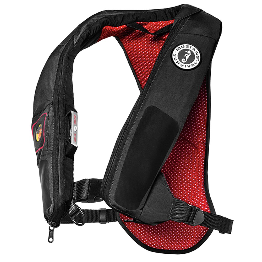 Mustang Survival Corp Elite 38 Automatic Inflatable PFD, Gray/Red