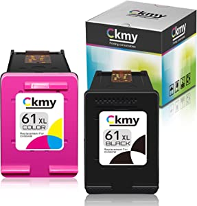 CKMY Remanufactured Ink Cartridge Replacement for HP 61XL 61 XL (Black Tri-Color) Use with Envy 4500 4502 5530 DeskJet 2512 1512 2542 2540 2544 3000 3052a 1055 3051a 2548 OfficeJet 4630 Printer