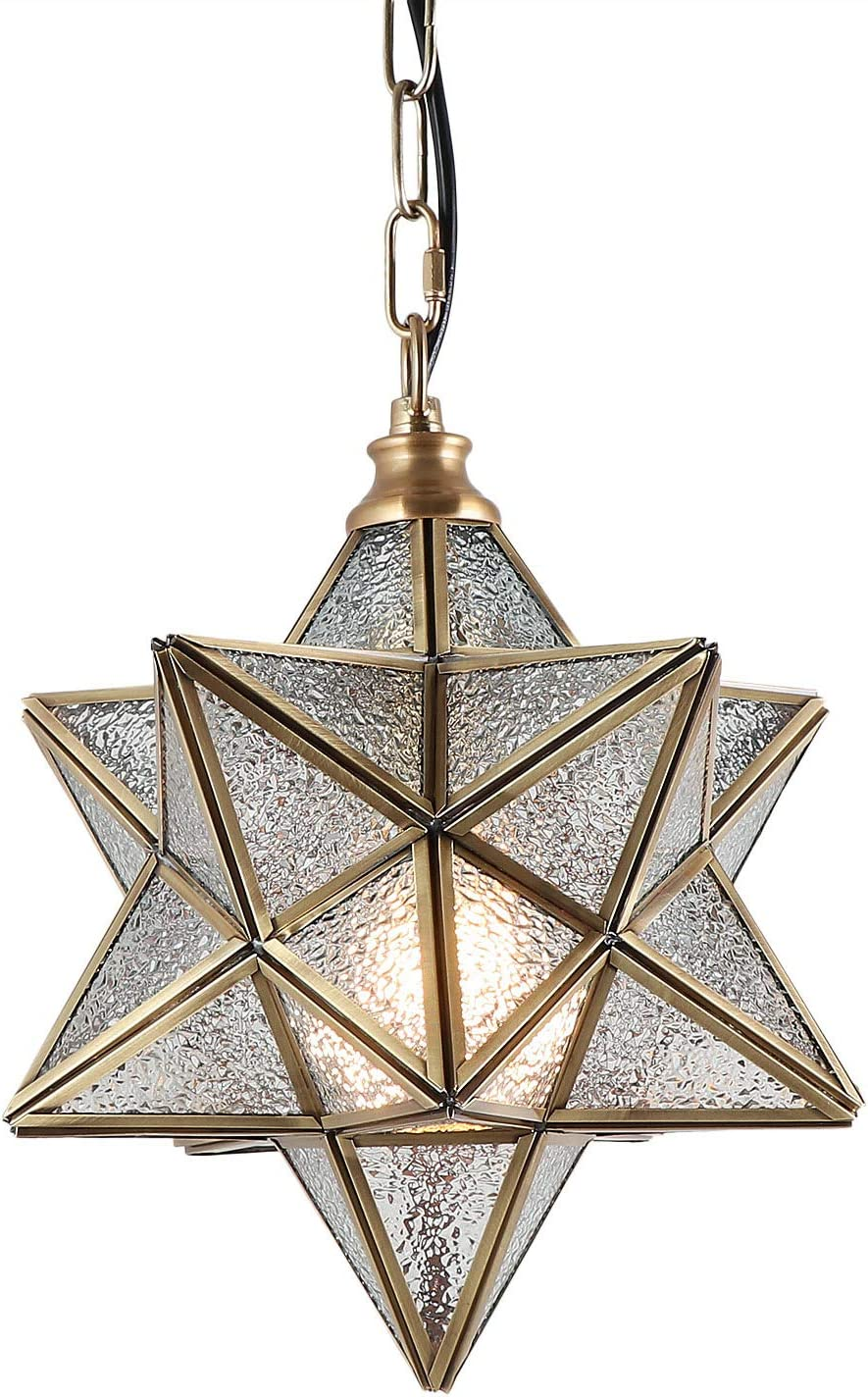 Eumyviv Moravian Star Pendant Light