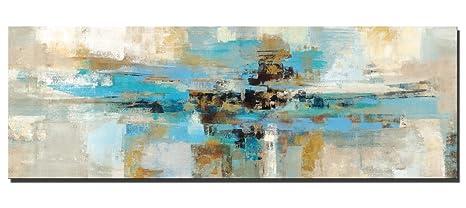 Fajerminart Leinwanddruck Wandkunst   Türkis Moderne Abstrakte Leinwand  Wandkunst, Gedruckt Auf Leinwand, Geeignete Wohnzimmer