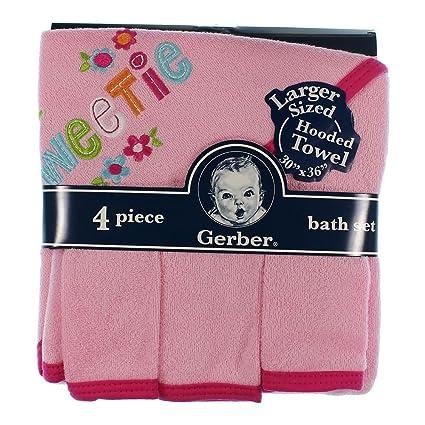 Gerber 4 piezas. Juego de toallas con capucha (Sweetie)