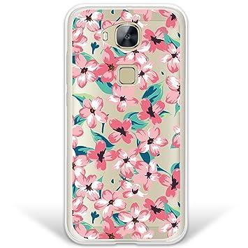 WoowCase Funda Huawei GX8 / G8, [Hybrid] Flores Vintage Case Carcasa [Huawei GX8 / G8] Rígida Fabricada en Policarbonato y Bordes de TPU Silicona ...