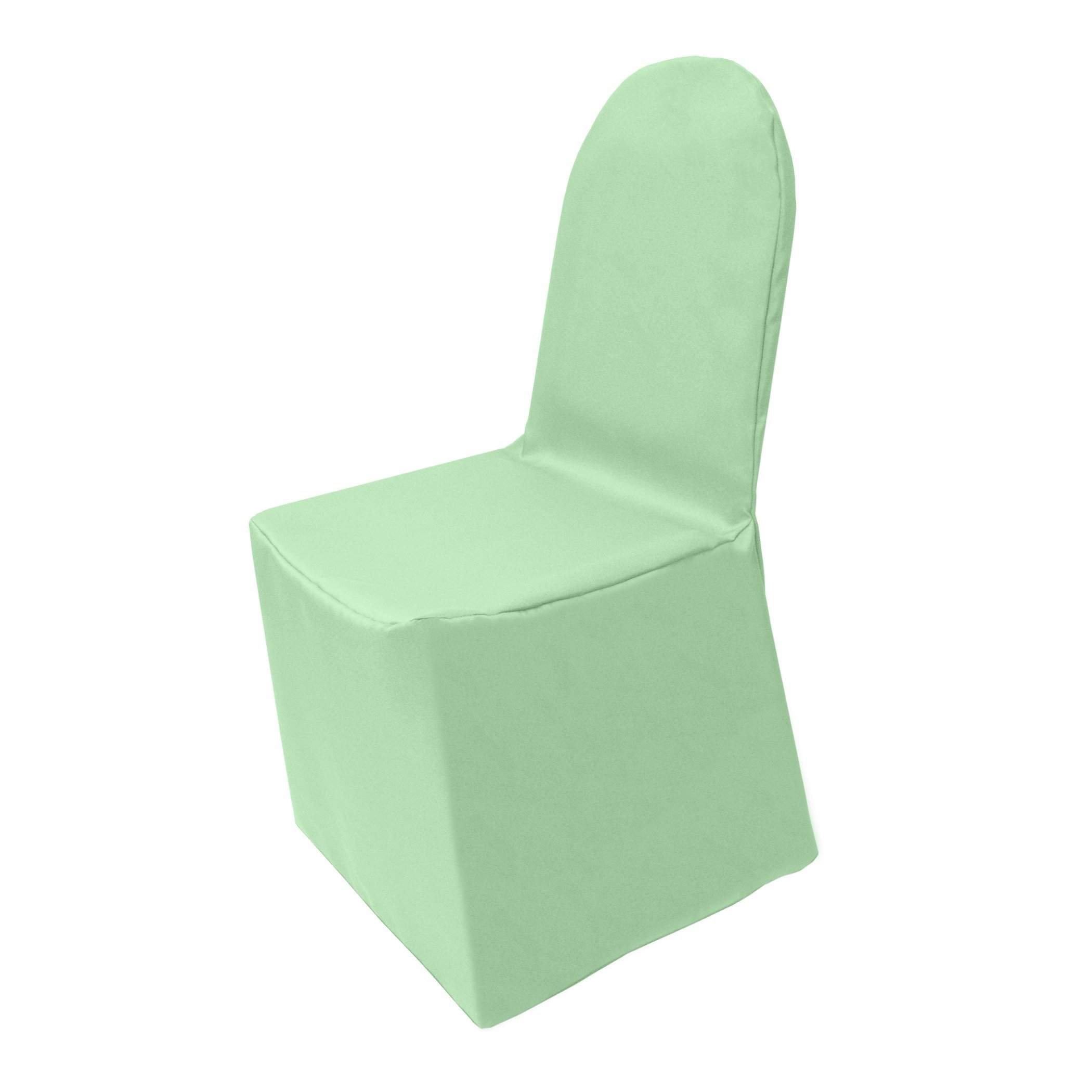 Ultimate Textile (2 Pack) Polyester Universal Chair Cover - for Wedding or Party use, Mint Light Green