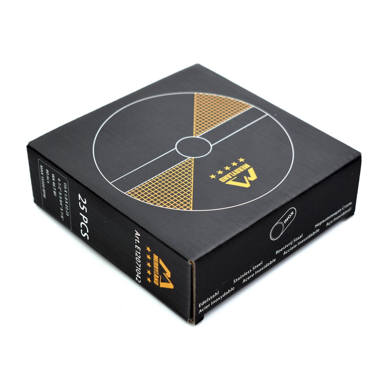 Merryland 115 X 1,0 Expert-line Disque /à Tron/çonner Acier Inoxydable M/étal 25PCS