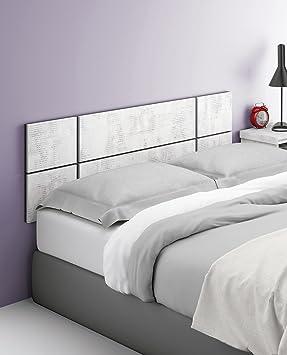 cabezal cabecero blanco collage para camas de cm o cm ancho de dormitorio incluye herrajes