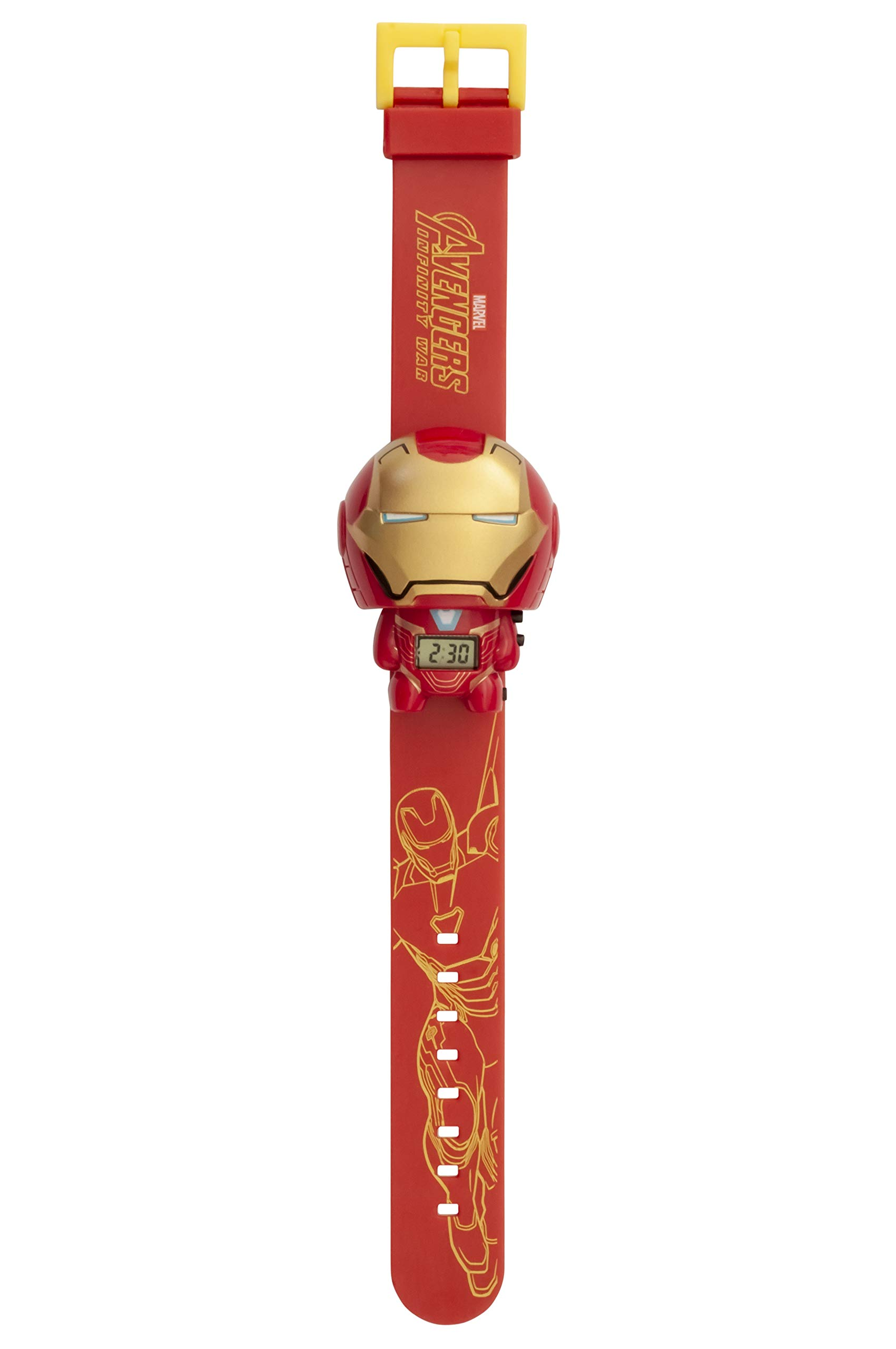 BulbBotz Marvel 2021852 Avengers: Infinity War Iron Man Kids Light up Watch | Red/Gold | Plastic | Digital | LCD Display| boy Girl | Official by Bulb Botz