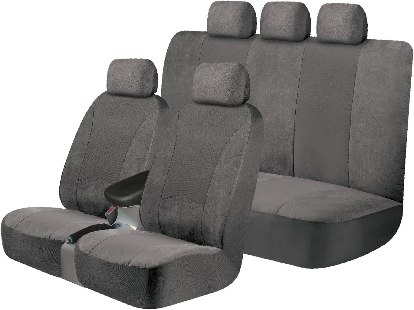 Waterproof Front Pair Car Seat Covers Protectors Grey AUDI A1 A2 A3 A4