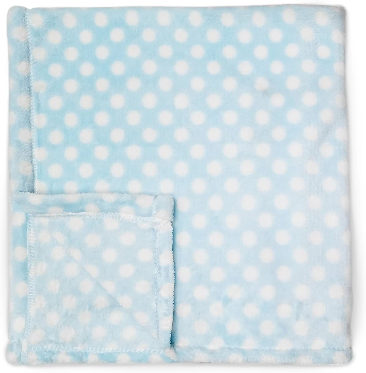 Cute New York Baby Blanket (Blue Dots) Super Soft Fleece Baby Girl/Baby Boy Blanket