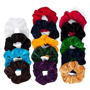6bf6e18d752a 14 PCS Hair Scrunchies for Women, Velvet Elastic Hair ... - Amazon.com