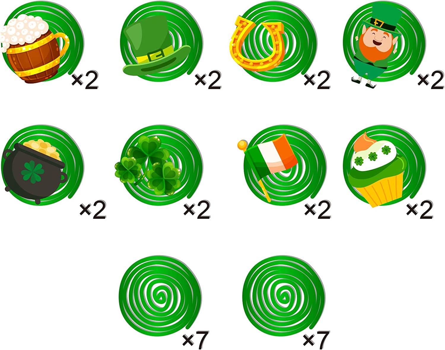 30pcs St Patrick Day Party Hanging Swirls Kits St.Patrick Day Lucky Irish Green Shamrock Party Supplies for Lucky Day Home Office Decor Saint Patricks Day Irish Hanging Decorations