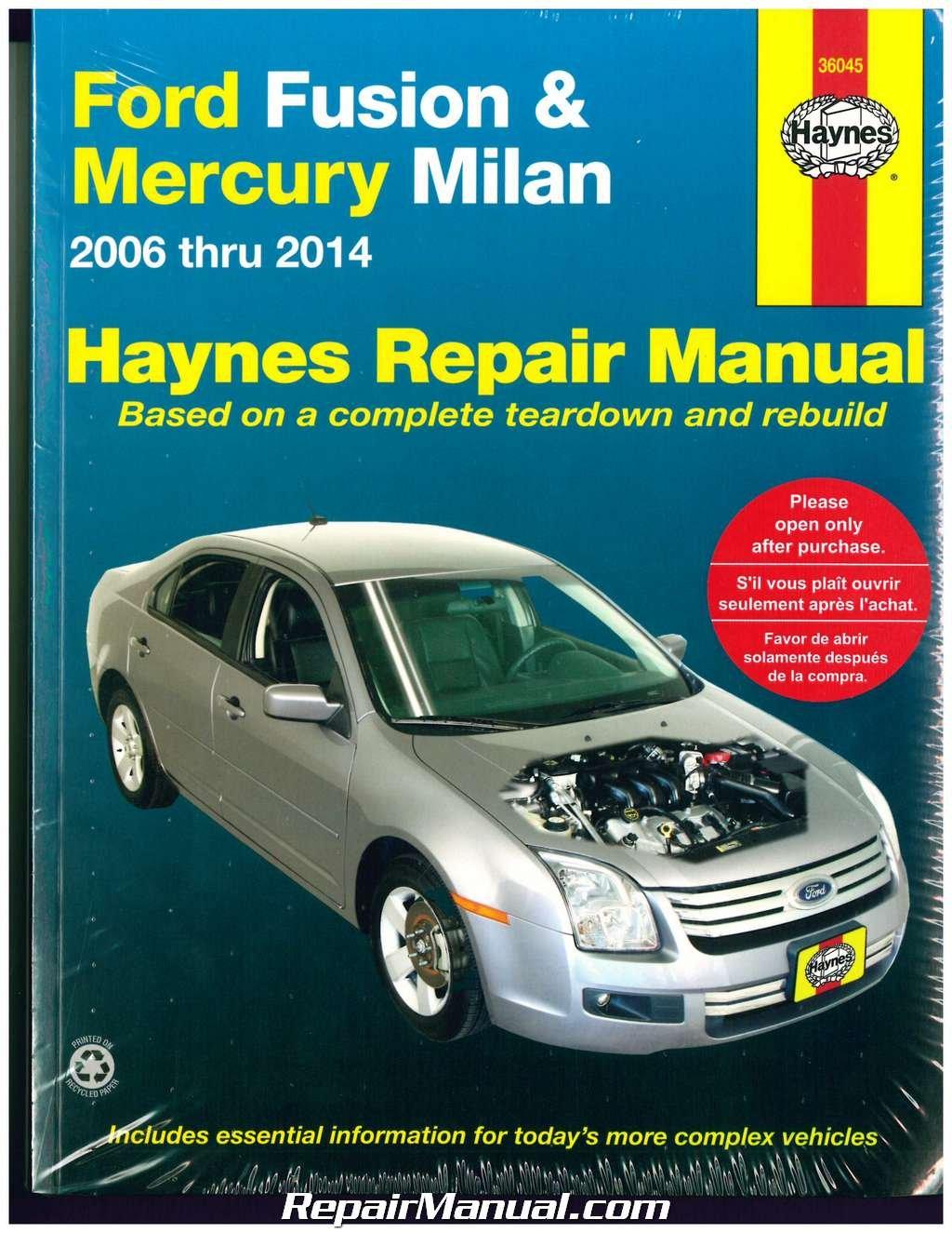 H36045 Haynes Ford Fusion 2006-2014 Mercury Milan 2006-2011 Auto Repair  Manual: Manufacturer: Amazon.com: Books