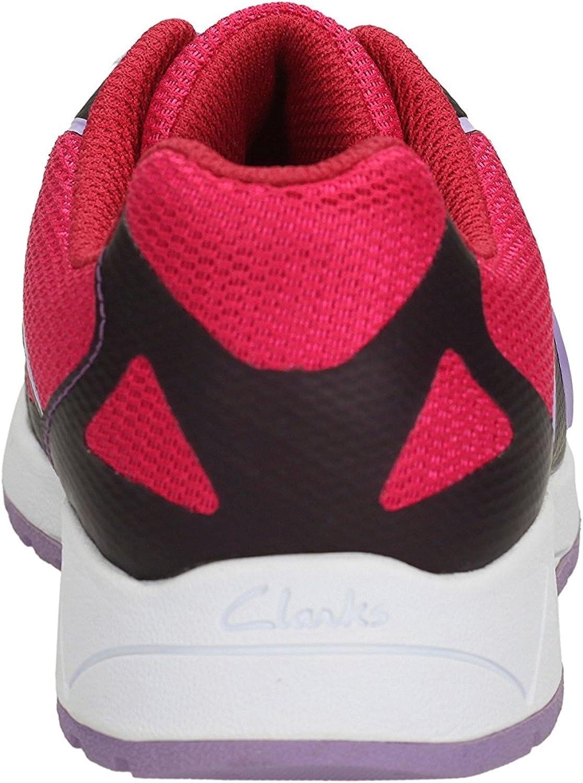Clarks Adventure Go Junior Chaussures de Sport pour Fille Rouge
