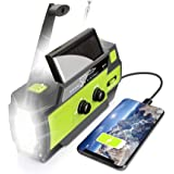 【2021 Upgraded】 Emergency Solar Hand Crank Portable Weather Radio, with AM FM NOAA, 3 LED Flashlights, Motion Sensor, Reading