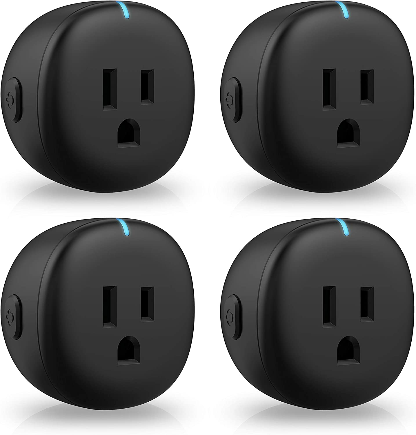 Smart Plug Black Amysen : Smart Mini WiFi Outlet, Works with Alexa and Google Home, ETL Certified, Only Supports 2.4GHz Network, No Hub Required, Remote Control, Control Your Devices from Anywhere