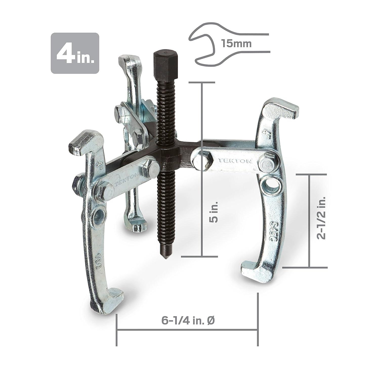 Gear Puller Set 4-Piece 3-Jaw 3 Inch 4 Inch 6 Inch 8 Inch Flywheel Tekton 5702