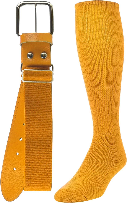 TCK Sports Baseball//Softball Adult Belt /& Socks Combo Set