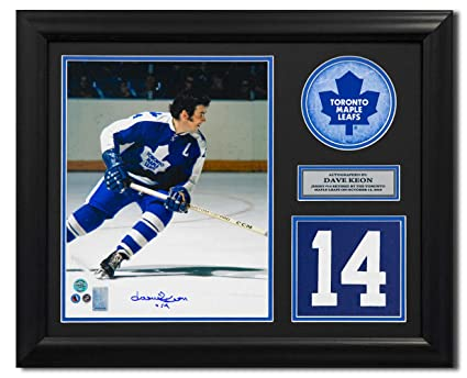Dave Keon Toronto Maple Leafs Autographed Autograph Retired Jersey Number  23x19 Frame - Certificate of Authenticity f4ca08433