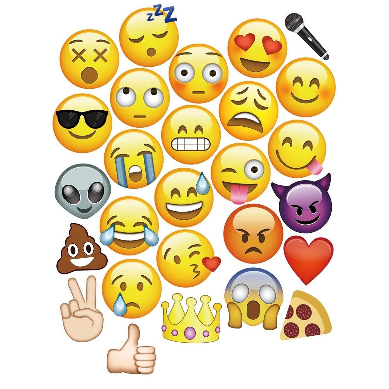 Trimming Shop 27 Piezas Emoji Rostros Cabina Fotos Accesorios para Boda Fiesta Cumpleaños Eventos: Amazon.es: Juguetes y juegos