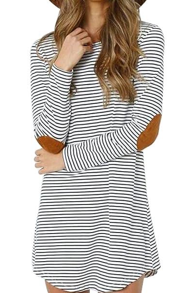 Amazon.com: mnlybaby Tees de manga larga Codo Patch T Camisa ...