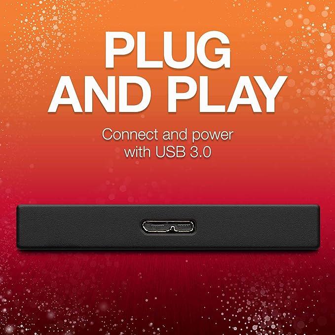 Seagate Backup Plus Slim 1tb Portable External Hard Computers Accessories