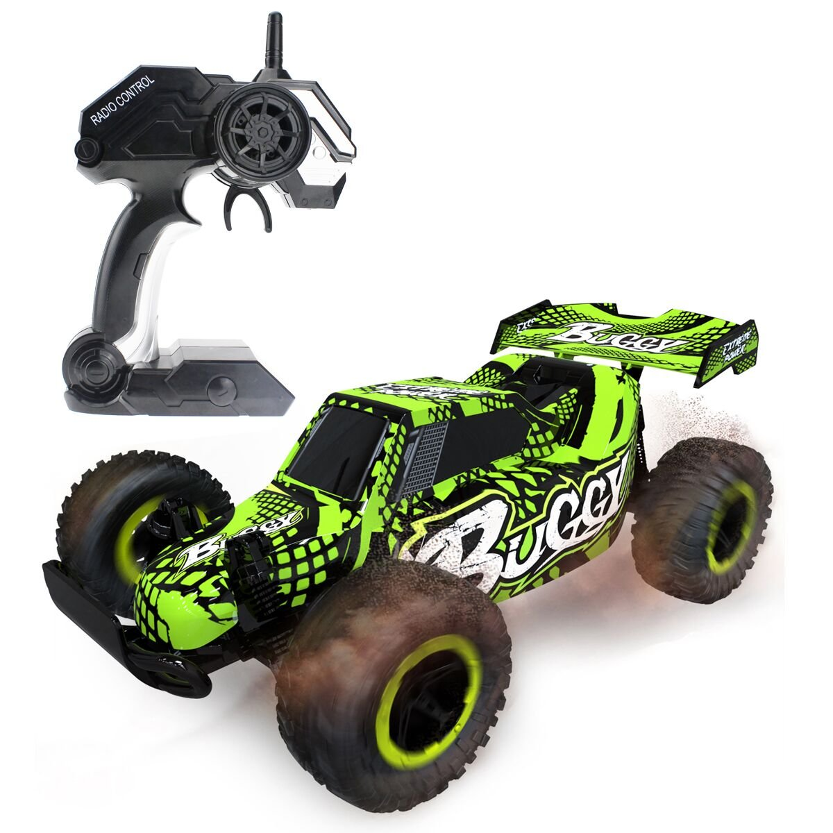 Hugine 1:16 2.4G RC Car Off Road Vehicle High Speed Racing Monster Truck 20km/h Buggy Independent Suspension Radio Control Cars Toys (Green)
