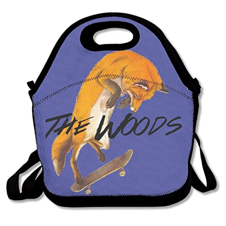 Amazon Com Ychy Woods Cool Fox Play Skateboard Lunch Bag Tote