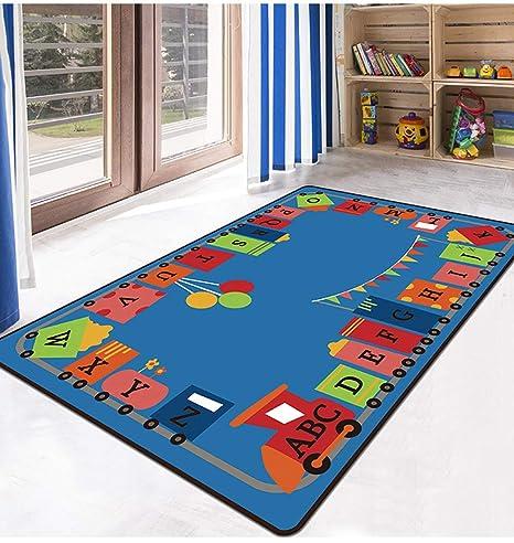 TWGDH Piso para Niños Juego Alfombra para Juegos Alfombra Lavable A Máquina Habitación para Niños Alfombra