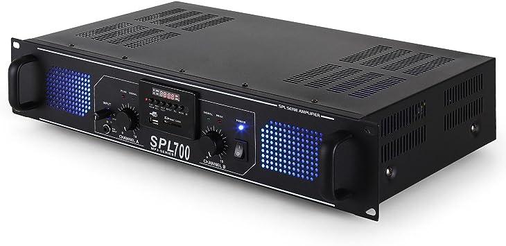 DJ-20 Equipo de Audio PA Amplificador Altavoces Cables (2000W de ...