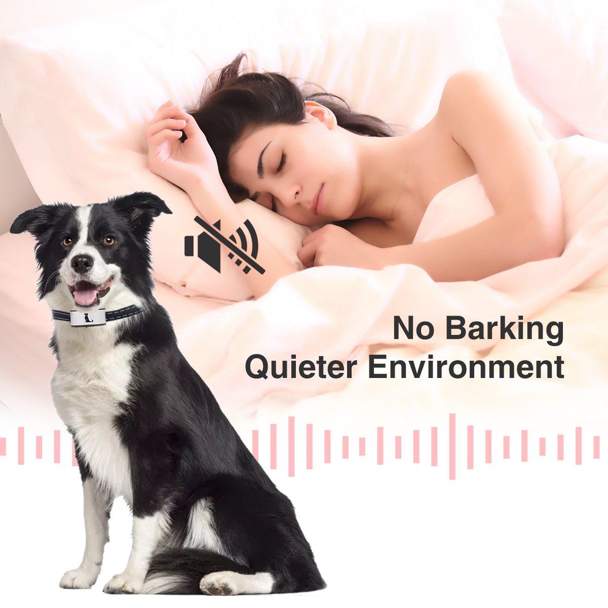 Recargables e Impermeables ACETEND Collar Anti Ladridos,Detenga el ladrido de Perros de una Manera Humana con Sonidos y Vibraciones sin Golpes
