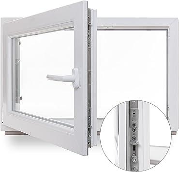 Kellerfenster Kunststoff Fenster 1000x600 mm 2-Fach Verglasung 100x60 cm LINKS