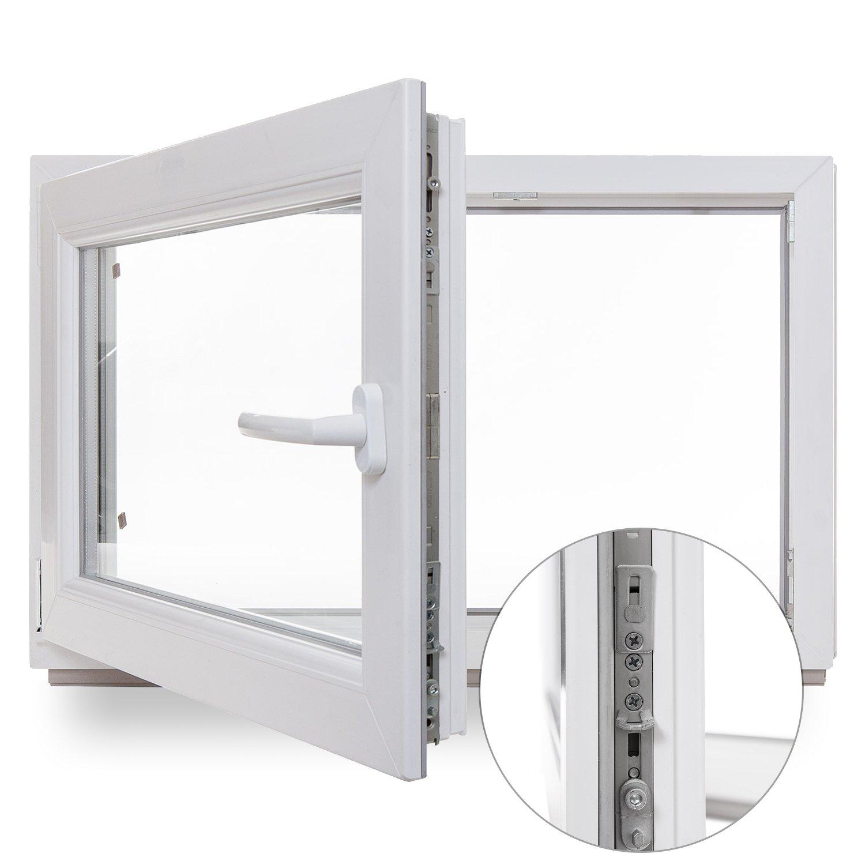 Kellerfenster - Kunststoff - Fenster - weiß - BxH: 100x60 cm - DIN ...