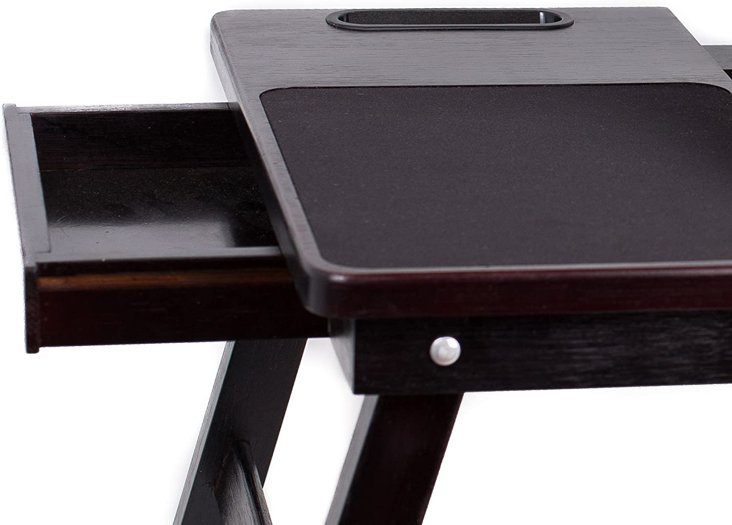 Supports Laptops Up to 18 Inches Walnut Sofia Left Handed Tray Sam Multi Tasking Laptop Bed Tray