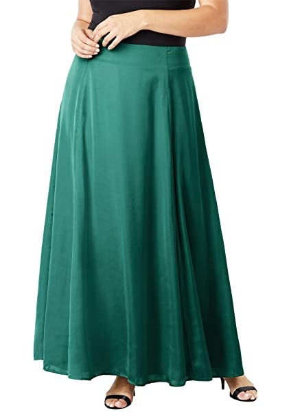 0c002c028a Jessica London Women's Plus Size Flowy Maxi Skirt at Amazon Women's  Clothing store: