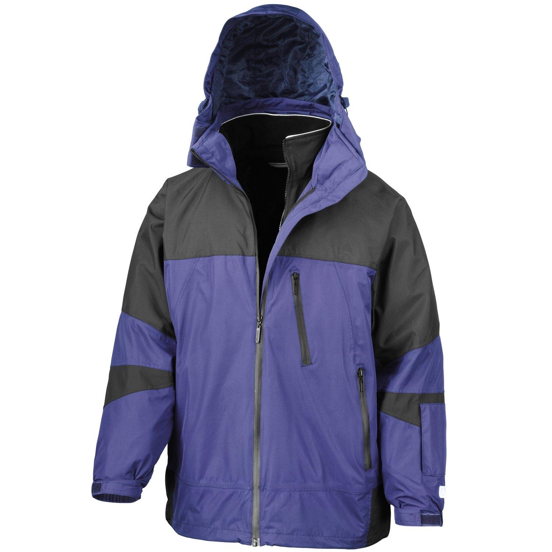 "3XL Result Mens Arctic Peninsula Hi-Tech 4-in-1 Jacket Yellow // Royal // Black Chest 53/"""