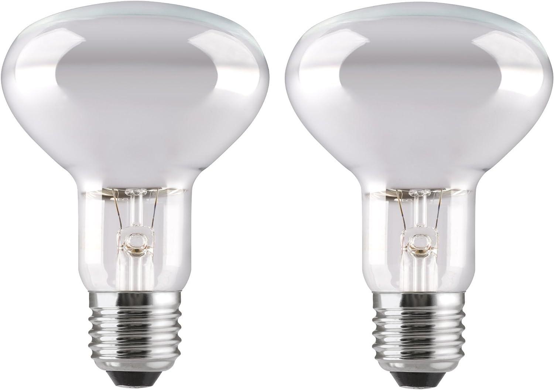 2 x R80 Halogen Reflector 42W = 60w Energy Saving Light Bulb ES E27 Screw