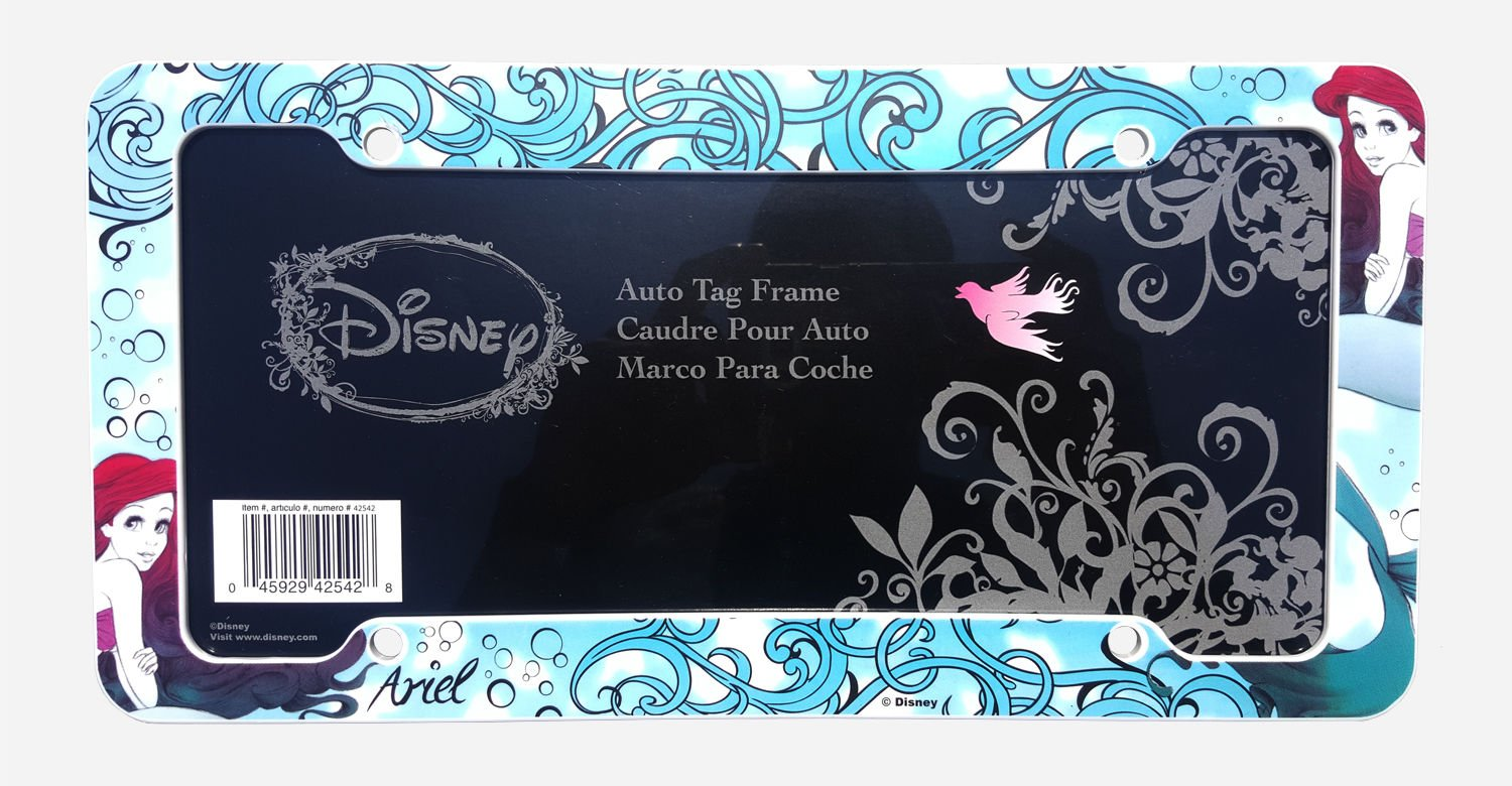 Amazon.com: Little Mermaid Ariel Plastic License Plate Frame: Automotive
