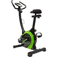 EnjoyFit Heimtrainer Fahrradtrainer mit Handpuls-Sensoren schwarz/grün