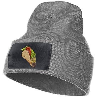 meilleure qualité dessin de mode 100% de satisfaction KLING Unisexe Dessin animé Mexicain Taco Fast Food Beanie ...