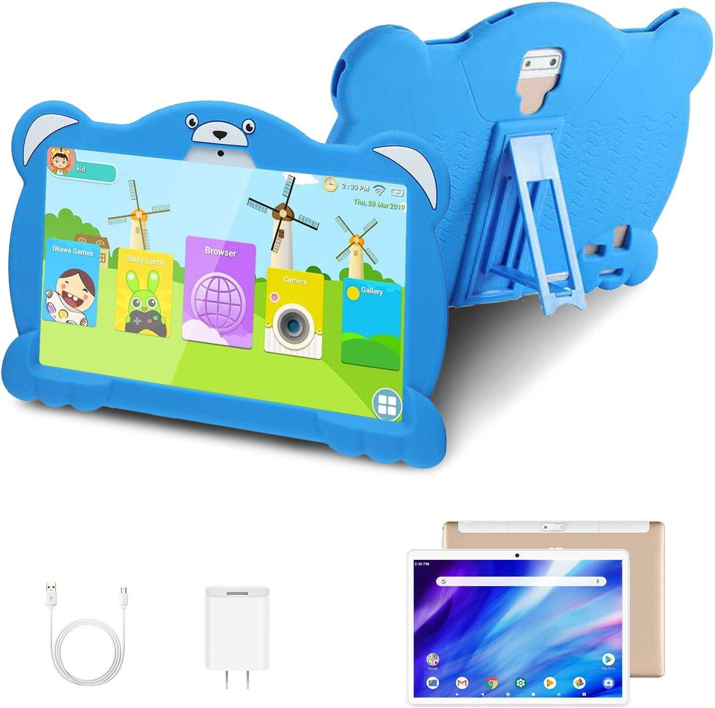 4G Tablet 10.1 Pulgadas Android 10.0 Quad Core Google GMS, DUODUOGO G11 32GB ROM/128GB Escalables 3GB RAM Tablet PC Batería 8000mAh Double SIM/Cámara WiFi Type-C (Azul)