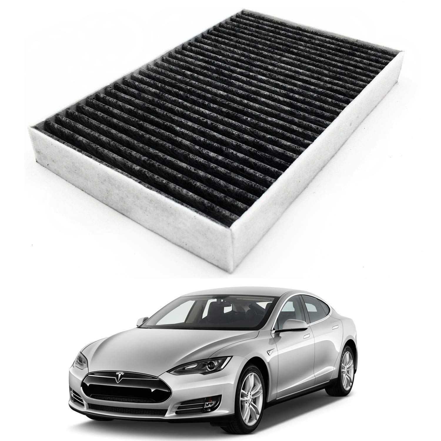 Jojomark Tesla Model S Cabin Air Filter With Activated Carbon Fit 2012 2015 Model S 1035125 00 A