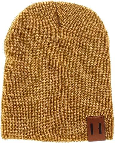 Gorro de algodón Casual para Hombres, Mujeres, Gorro de Invierno de Punto Sombrero de Punto sólido, Gorro Unisex para Deportes de Invierno vpass: Amazon.es: Ropa y accesorios
