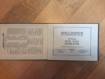 CIRCA 1930s SPALDING OFFICIAL BASEBALL SCORE BOOK with Cincinnati Reds Game at Amazons Sports Collectibles Store