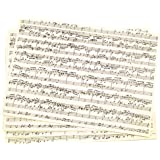 image regarding Printable Sheet Music for Crafts referred to as Sheet New music Paper Sbook Paper: Classic Tunes Print