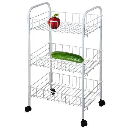 3 Tier carrito para verduras frutas accesorio de cocina soporte con ...