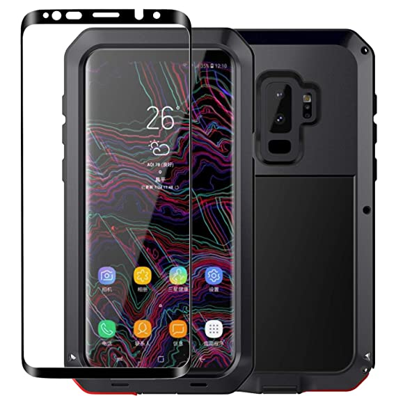 new product c3ebb c1522 Galaxy S9 Case,Tomplus Armor Tank Aluminum Metal Shockproof Military Heavy  Duty Protector Cover Hard Case for Samsung Galaxy S9 (Black)