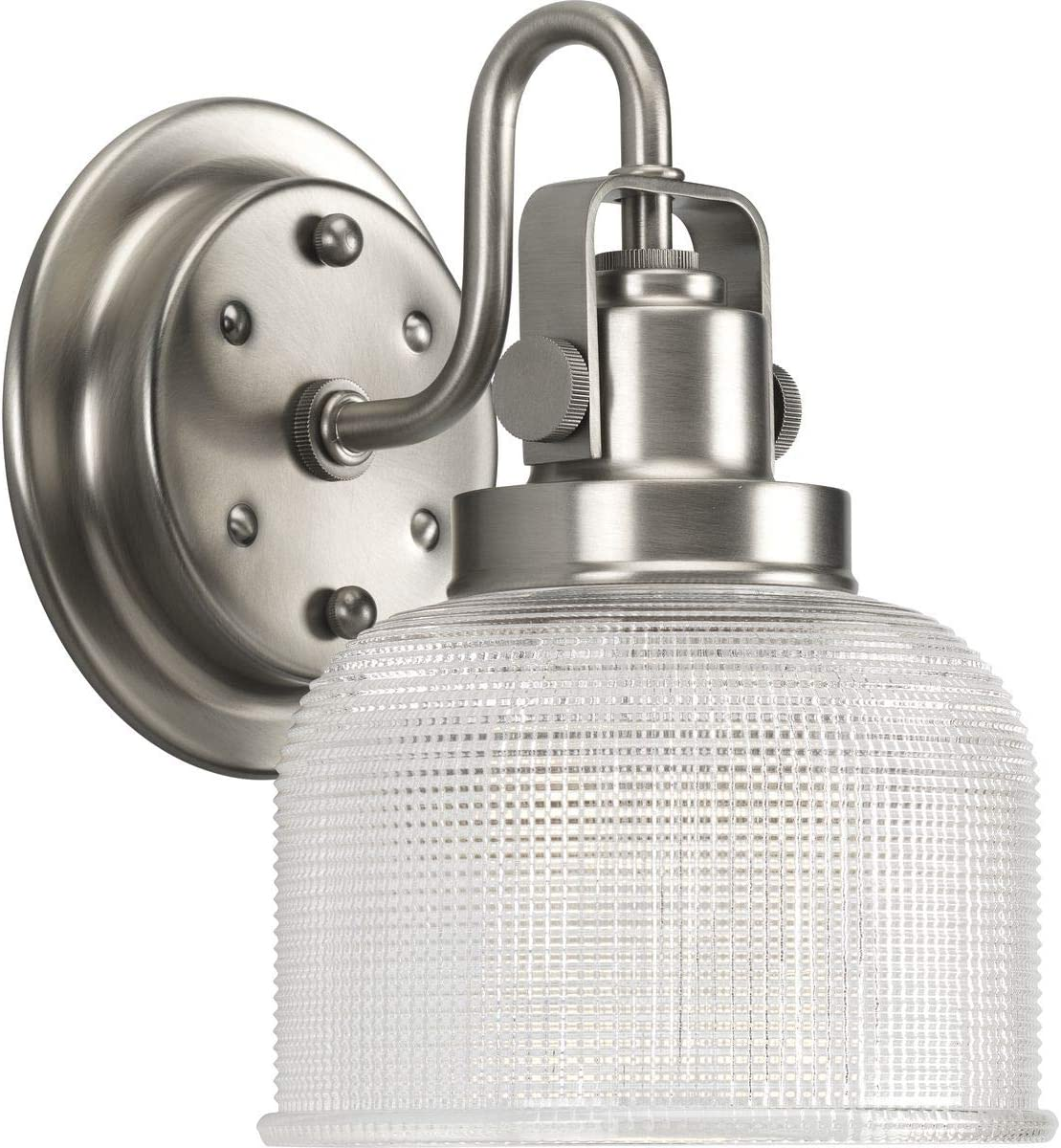 Progress Lighting P2989-81 Archie Collection One-Light Bath Vanity, Antique Nickel