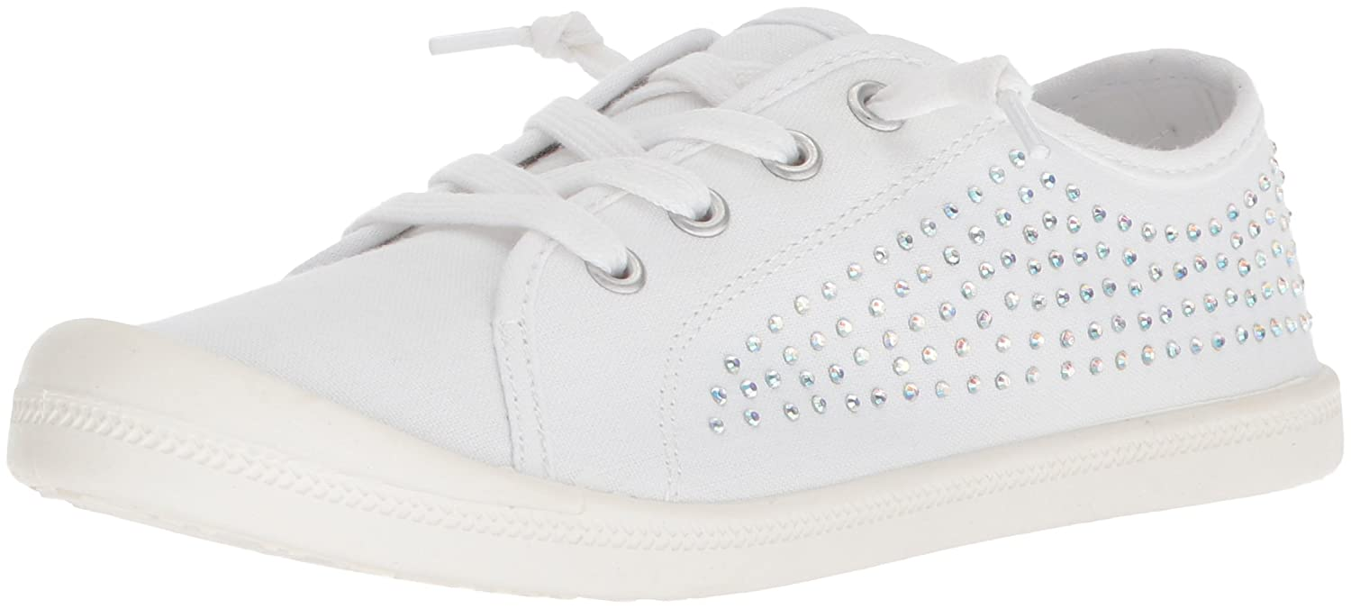 Madden Girl Women's Bailey-r Sneaker B0779T7T3T 6 B(M) US|White Fabric