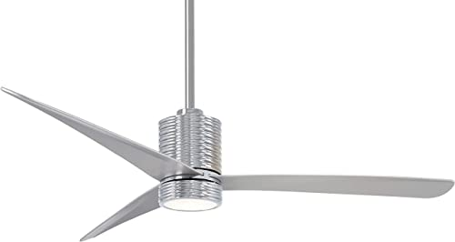 Minka-Aire F829L-CH SL Ceiling Fan in Chrome with Silver Finish