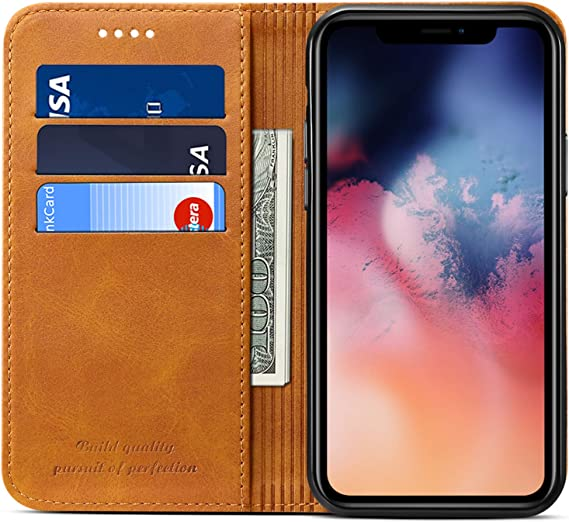 Wallet Case Flip Cover For Iphone 12 Pro Kickstand Magnetic Pu Leather Folio Book Style Id Credit Card Holder Phone Case For 2020 New Apple Iphone 6 1 Inches Khaki Amazon Ca Cell Phones